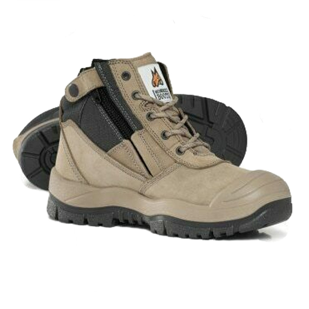 Mongrel 461060 ZipSider Boot with Scuff Cap - Stone