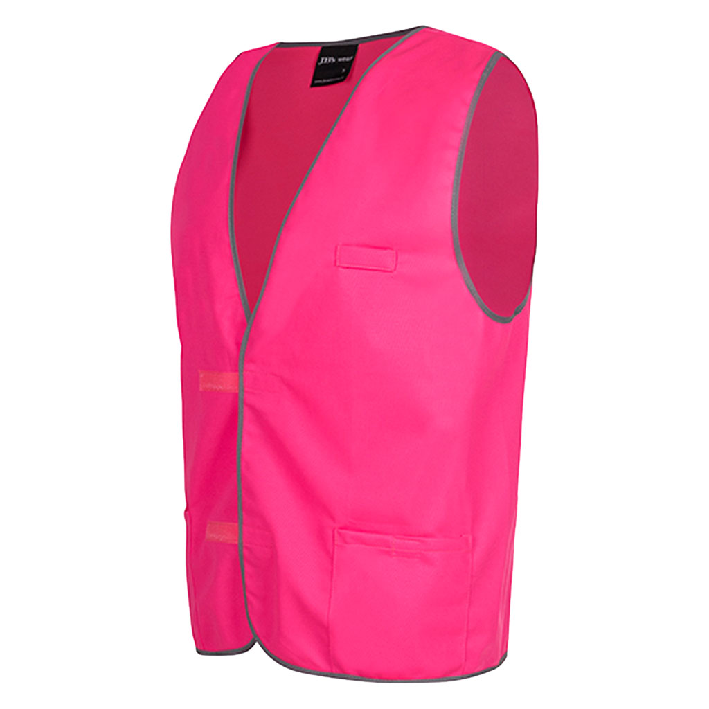 JB's Coloured Tricot Vest - Hot Pink Side