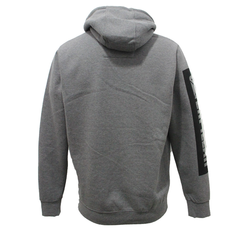 CAT Icon Block Hoodie - Dark Heather Grey Back
