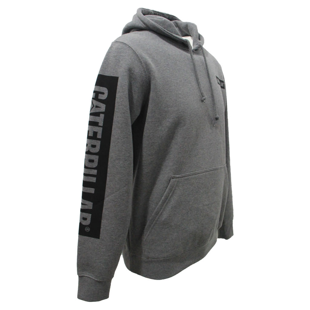 CAT Icon Block Hoodie - Dark Heather Grey Angle