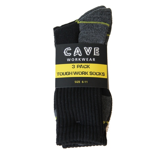 CAVE Tough Work Socks 3PK