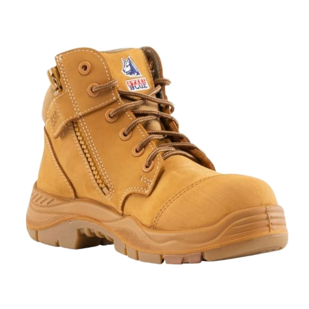 Steel Blue Parkes Zip Composite - Wheat