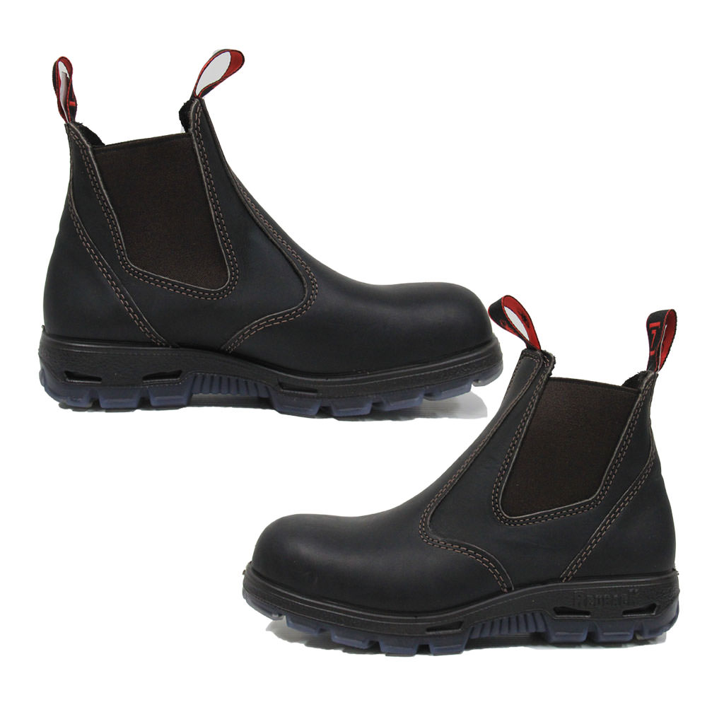 Redback Bobcat Claret Oil Kip Elastic Side Boot Non Safety
