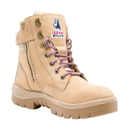 Steel Blue Southern Cross Zip Ladies Nitrile Boots - Sand