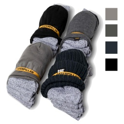[1490049] CAT Beanie/Sock Bundle 5Pk