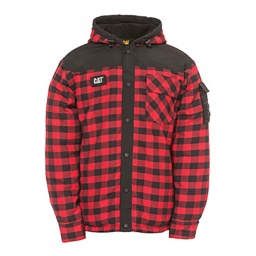 CAT Sequoia Shirt Jackets - Red Buffalo Plaid