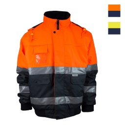 Tough Inc Hi Vis Reflective Pilot Jackets With Hood