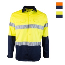 Tough Inc Hi Vis LS Reflective Drill Shirts